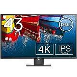 Dell モニター 43インチ 超広視野角/4K/IPS 非光沢/DP,mDP,HDMIx2,D-Sub/プレミアムパネル3年保証 P4317Q