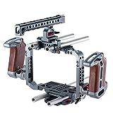 TILTA カメラ リグ キット BMCC カメラ カムコーダー ビデオ ケージ フィルム製造 システム 15mm ロッドハンドルグリップ付き Blackmagic シネマ4Kカメラ用