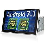Android 7.1 カーナビ 2din 10.1インチ 大画面 パネル角度調節可 起動速い RAM 2GB ROM 32GB 1080P GPS Bluetooth Wifi OBD対応 18ヶ月保証