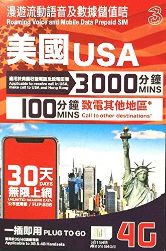 【AT&T】ハワイ・アメリカ本土 プリペイドSIM 30日 データ容量8GB 大容量通話付き