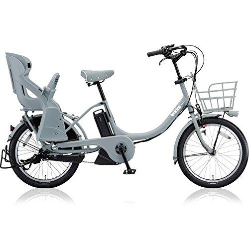 ブリヂストン(BRIDGESTONE) ビッケモブ(bikke MOB) e BM0C38 E.XBKブルーグレー 子供乗せ自転車