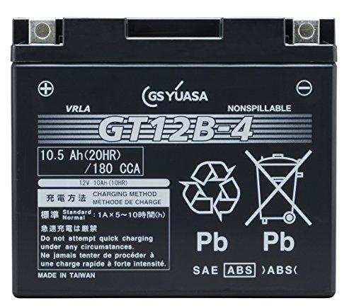 GS YUASA ジーエスユアサ シールド型 バイク用バッテリー 液入充電済 GT12B-4