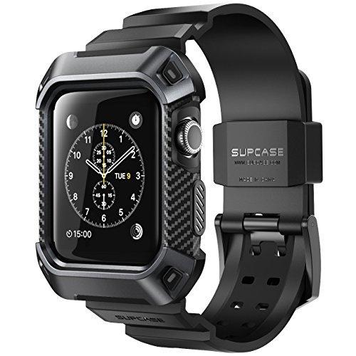 SUPCASE Apple Watch Series 3 ケース バンド 一体 落下衝撃 吸収 アップルウォッチ シリーズ 1,2,3 対応 カバー (Apple watch1,2,3 42mm)
