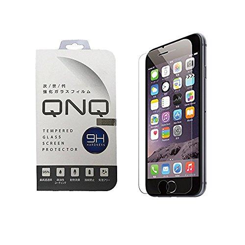 QNQ iPhone6s / iphone6 フィルム ガラスフィルム 強化 ガラス 液晶 保護フィルム 薄さ0.3mm 3D touch 対応 日本製素材 硬度9H ラウンドエッジ