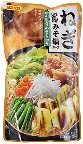 日本食研 ねぎ濃厚みそ鍋スープ 720g×2個