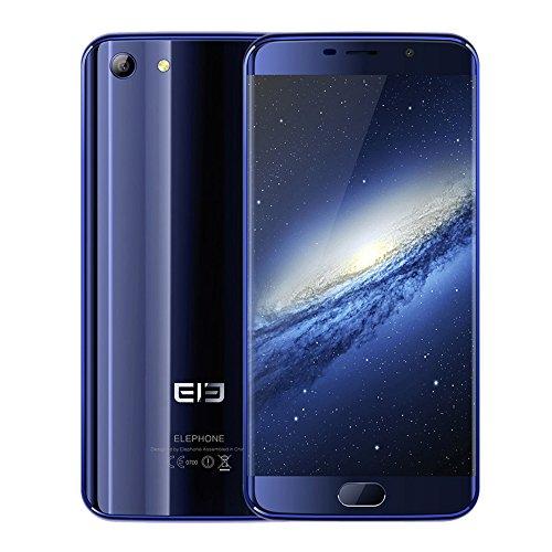 KKmoon® Elephone ELE S7 4G LTE スマートフォン 5.5インチ 1080*1920px Helio X20 デカコア CPU 4GB RAM 64GB ROM Android 6.0 OS 13.0MP+5.0MP カメラ 3000mAh Battery 指紋認識 ロック解除 GPS メタルフレーム 国内用アダプタつき