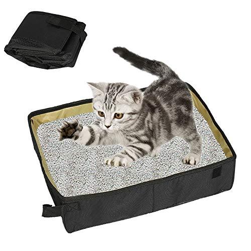 TCATEC 猫トイレ ポータブル 猫のトイレボックス折り畳み式 持ち運び便利 旅行やアウトドア用 軽量 簡易ト...