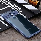 OURJOY Huawei Mate10 Pro ケース 背面 クリア 透明PC+柔らかなTPU クリア 軽量 衝撃防止 擦り傷防止 高級感 薄型 Huawei 6.0インチ Mate 10 Pro ケース 携帯カバー(ブルー)