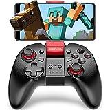 Android Bluetooth接続 スマホ コントローラー BEBONCOOL TELEC認証 Minecraft 対応 Android ゲーム コントローラー 連射機能搭載 Bluetooth接続 ゲームパッド