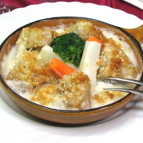 鶏のクリームソース煮