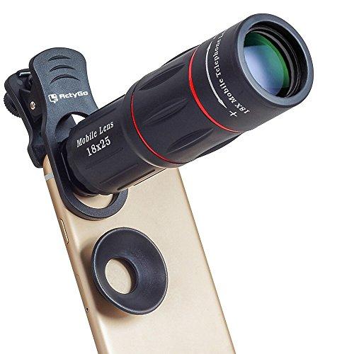 ActyGo (高画質HD18X望遠レンズ三脚セット) 正規品 スマホレンズ カメラクリップ式 ほぼ全ての iphone/Android その他スマホ対応 メーカー1年保証 30日間お試し返品可