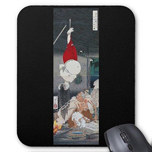 月岡芳年『奥州安達がはらひとつ家の図』のマウスパッド:フォトパッド( 浮世絵シリーズ )