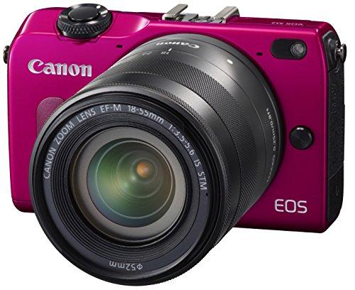 Canon ミラーレス一眼カメラ EOS M2 EF-M18-55 IS STM レンズキット (レッド) EF-M18-55mm F3.5-5.6 IS STM付属 EOSM2RE-1855ISSTMLK