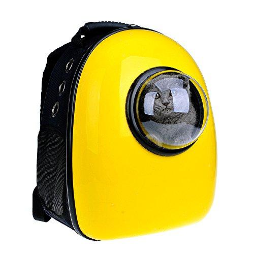 U-pet ペットキャリーバッグ 宇宙カプセルペットバッグ 透明カバー通気カバー付き  通気性抜群 外出便利 旅行にも 猫用 犬用