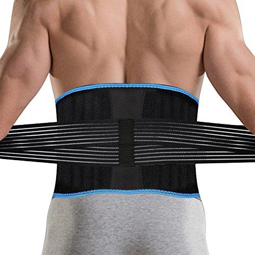 DBPOWER 腰サポーター 腰痛ベルト 腰痛 コルセット 8本弾性ステー 腰痛 予防用 腰椎固定ベルト お腹 引き締め 男女兼用 ダイエットベルト