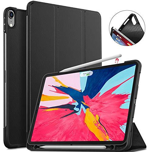 ELTD ipad pro 11 ケースソフトカバー 2018秋 ipad pro 11カバー ペンビットを付き Apple Pencil給電もペアリングもでき スタンド機能付きカバー 365日交換 ブラック