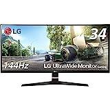 LG ゲーミング モニター ディスプレイ 34UC79G-B 34インチ/21:9 曲面 ウルトラワイド/IPS 非光沢/144Hz/DisplayPort×1,HDMI×2
