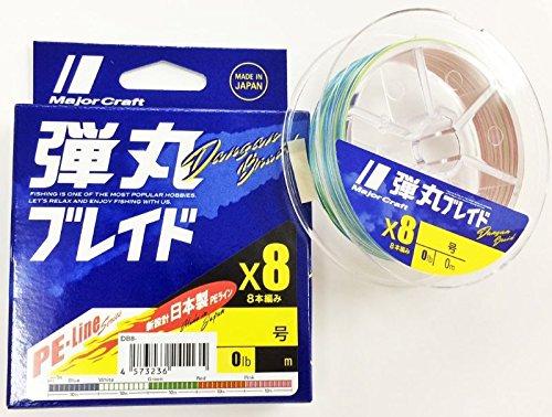 メジャークラフト PEライン 弾丸ブレイド 8本編み マルチカラー DB8-200/0.6MC マルチカラー 200M/0.6号