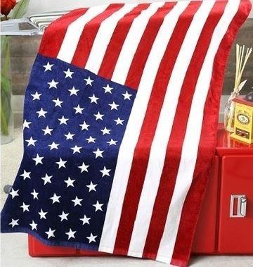 おしゃれ 星条旗 デザイン バスタオル アメリカ国旗 コットン タオル 140×70cm