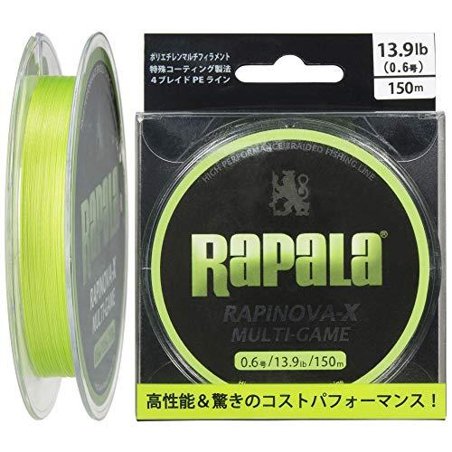 ラパラ(Rapala) ラピノヴァX マルチゲーム 150m 0.6号 13.9lb ライムグリーン Rapinova-X Multi Game 150M . RLX150M06LG