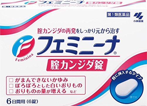 【第1類医薬品】フェミニーナ 腟カンジダ錠 6錠 ※セルフメディケーション税制対象商品
