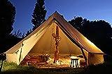ベルテントBell tent 特大 ハイクオリティ 100%コットン仕様 6m 防水 ティーピーテント [並行輸入品]