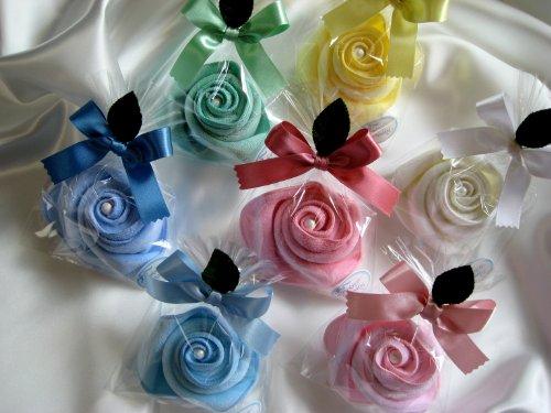結婚式のプチギフトでも人気のハンカチ花束を退職時にプレゼント