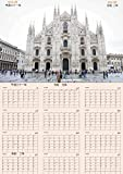 4月4日先行発売 数量限定 新元号【令和】 大型カレンダー 4月始まり1年間 大判A2サイズ 60×42㎝ イタリア ミラノ DUOMO 六曜付 改元記念 贈り物 就職 新学期 平成31年4月~令和2年3月