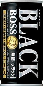 サントリー コーヒーボス 無糖ブラック 185g×30本