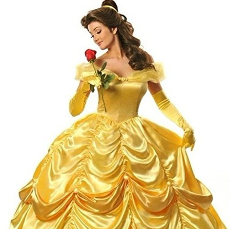 美女と野獣 ベル ディズニーハロウィン コスプレ衣装 女性 サイズ:XL