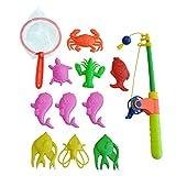 Cikuso 磁気釣り玩具 ロッドモデルネット 10フィッシュキッド子供ベビーバス時間ファンゲーム