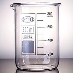 Deschem 800ml ホウケイ酸 ビーカー 目安目盛付 実験室用品 Glass Beaker