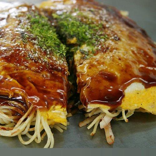 広島風お好み焼き 5枚セット 手作り焼きたて 冷凍便 (ソバ入5枚)