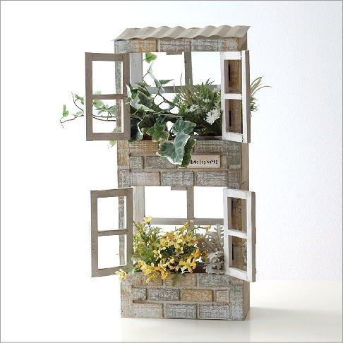 ウッド壁掛2階建てプランターはプレゼントに人気の雑貨
