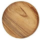 不二貿易 ラウンドトレー XLサイズ 幅25.4cm ブラウン アカシア 天然木 割れにくい 軽量 木製 食器 30148