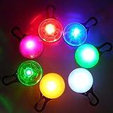 LED ペンダント 犬 猫 の 首輪 に 夜の散歩でも ペットの位置を光で知らせます (7色発光1個)
