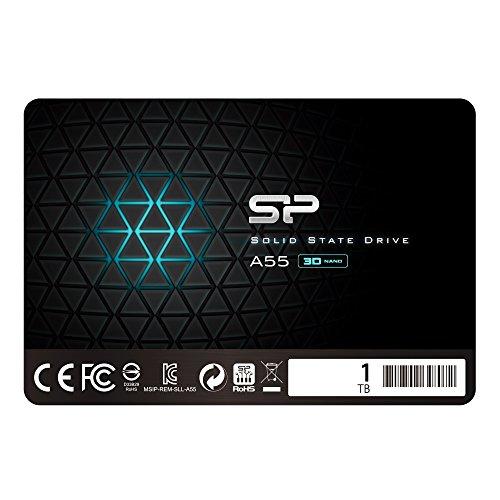 シリコンパワー SSD 1TB 3D TLC NAND採用 SATA3 6Gb/s 2.5インチ 7mm 3年保証 A55シリーズ SP001TBSS3A55S25