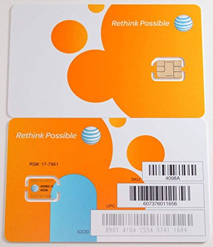 ATT 3G LTE プリペイド NANO SIMカード【SKU 4488A】 並行輸入品 ナノSIMカード 並行輸入品