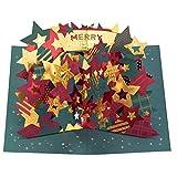 学研ステイフル クリスマスカード ポップアップ 箔 星みどり X58125