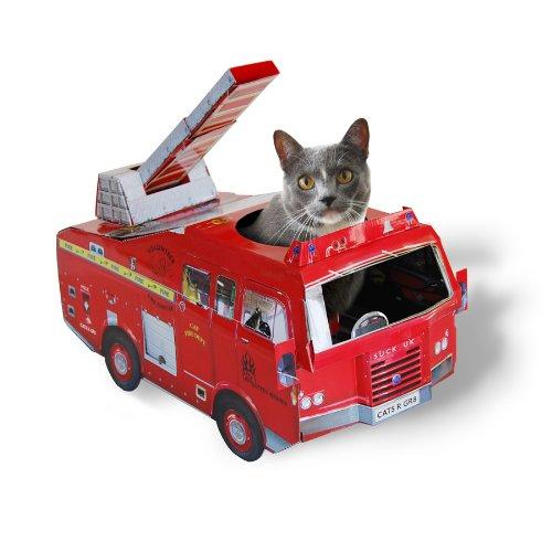 【SUCKUK】キャットプレイハウス 消防車