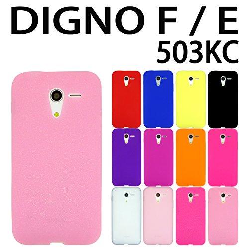 DIGNO F / E 503KC Y!mobile 京セラ 用 オリジナル シリコンケース (全12色) ラメクリアピンク  DIGNOF / DIGNOE ディグノF / ディグノE 503KC ケース カバー スマホ スマートフォン 503KC F / E