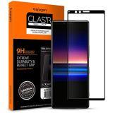 【Spigen】 (1枚入) Sony Xperia 1 ガラスフィルム 6.5インチ用 全面保護フィルム 液晶強化ガラス 【フルカバー】 全面保護 9H硬度 撥油加工 飛散防止 Glas.tR Xperia1 ガラスフィルム (FC ブラック) (G15GL26324)