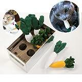 猫専用お野菜おもちゃ(はたらくぬこ)【日本の職人手作り/国産/ラッピング包装】 (キャットニップ)