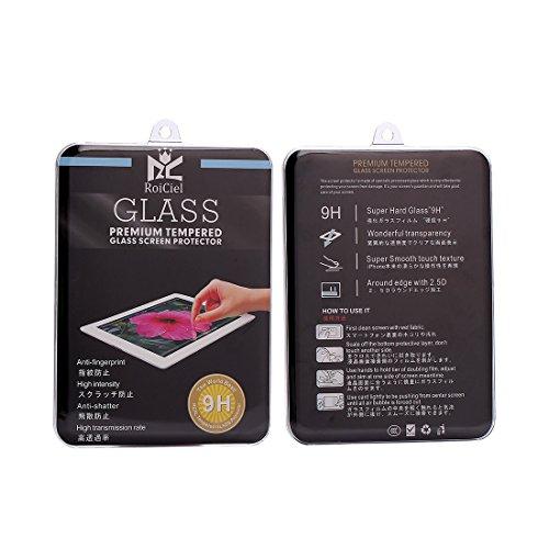 RoiCeil 液晶保護強化ガラスフィルム 硬度9H 超薄0.3mm 2.5D ラウンドエッジ加工 ipad air1/2 ipad 5/6