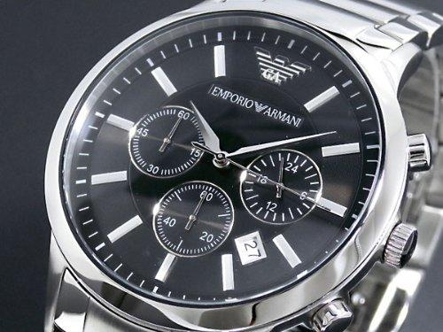 エンポリオ アルマーニ EMPORIO ARMANI クロノ クオーツ メンズ 腕時計 AR2434