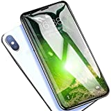 iPhone XS Max /Plus ガラスフィルム 【3D全面保護 日本旭硝子製 最新防塵タイプ ケースに干渉せず】 3Dフルカバー 硬度9H・高透過率・高鮮明・指紋防止・気泡防止・自動吸着・徹底防御(2018新型)(6.5inches)