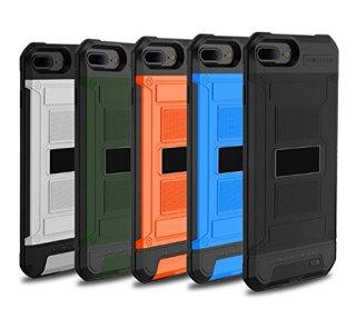 バッテリー内蔵ケース 防塵 耐衝撃 スマホ給電 モバイル 一体 ワイヤレス 薄い 超軽(iPhone6/6S/iPhone7 8用 3000mah, オレンジ)