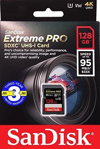 SanDisk サンディスク SDHC カード 128GB Extreme Pro UHS-I 超高速U3 Class10 【 3年保証 】 並行輸入品