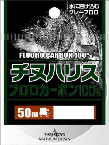 ヤマトヨテグス(YAMATOYO) ハリス チヌハリス フロロカーボン 50m 1.5号 6lb グレー