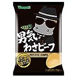 山芳製菓 ポテトチップス 男気わさビーフ 100g×6袋